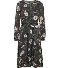 dress woven fabric jurk knielengte groen gerry weber
