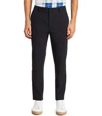 zipper woven pants
