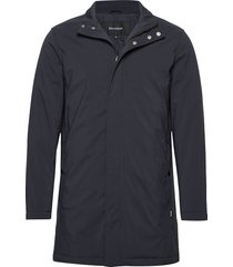 miles nn winter car coat trenchcoat lange jas blauw matinique