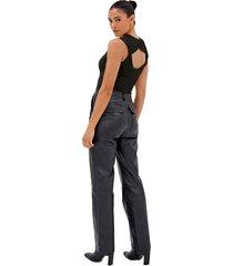 women's 4th & reckless brixton sleeveless bodysuit, size x-small - black