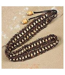 coconut shell belt, 'eco love' (thailand)