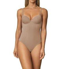 body modelador com bojo e alças multifuncionais feminino - feminino
