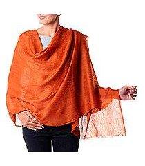 wool shawl, 'earthy panache' (india)