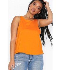dr denim cleo singlet linnen orange