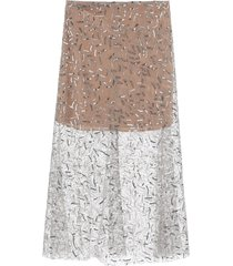 self-portrait sequined tulle midi skirt