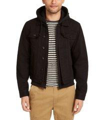 sun + stone men's dillon trucker jacket, created for macy's