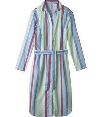 zomerse blousejurk met pastelkleurige blokstrepen, wit gestreept 40