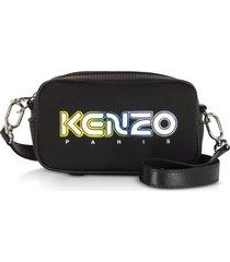 kenzo black neoprene kombo crossbody bag