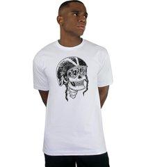 camiseta ventura skull captain branco - kanui