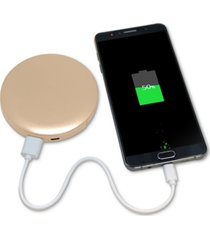 hyper pearl 3000 mah led ring compact mirror and usb battery