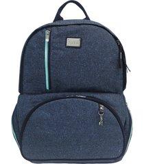 mochila térmica para notebook vivá fata - azul glitter