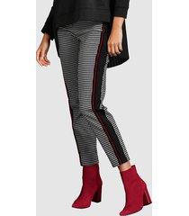 broek alba moda zwart::wit::rood