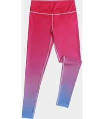 leggings con degradado de cintura elástica aleatoria activa en rojo