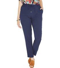 pantalon pierna pitillo azul liso lorenzo di pontti