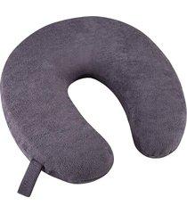 travesseiro cervical fibrasca my travel espuma cinza.
