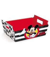 cesta caixote organizadora papel mickey disney festa 1 unidade