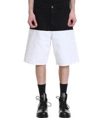 raf simons shorts in black denim