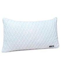 capa de almofada tricot 60x40 c/zíper sofa cod 354.8 branco