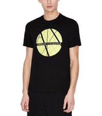 ax armani exchange men's center circle graphic t-shirt