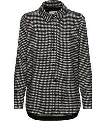 blouse-jacket blouse lange mouwen zwart gerry weber