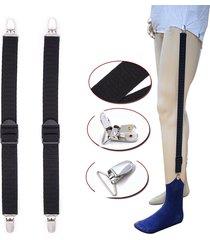 maglia donna uomo portafoglio uniforme elastica business style pantaloni suspender garter