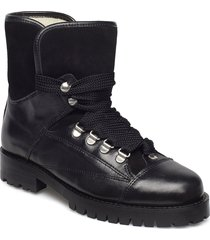 alice long wool shoes boots ankle boots ankle boot - flat svart pavement