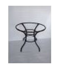 base de mesa de aluminio, trabalhado em fibra 80 cm