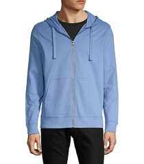 hooded cotton zip-up sweatshirt