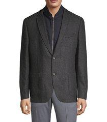 bugatti men's textured hybrid sports jacket - taupe - size 44