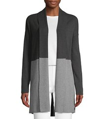 colorblock cotton blend cardigan