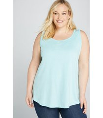 lane bryant women's scoop-neck swing tank 14/16 capri blue