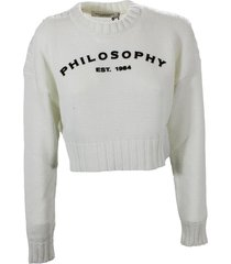 philosophy di lorenzo serafini cotton blend sweatshirt