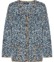 dolce & gabbana chunky-knit cardigan - blue