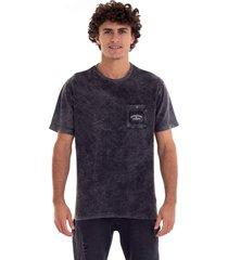 camiseta itinga quiksilver - preto - masculino - dafiti