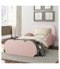 mini cama algodáo doce com colcháo 150cmx70cm 100% mdf multimóveis rosa