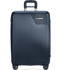 sympatico medium expandable spinner suitcase - matte navy