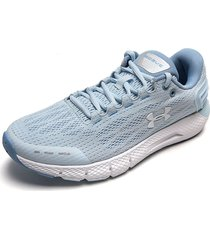 tenis running azul claro-blanco under armour charged rogue