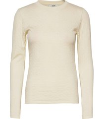 thermal wool tiffi t-shirts & tops long-sleeved crème mads nørgaard