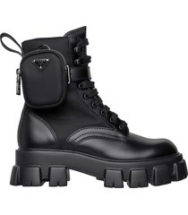 prada prada ankle pouch combat boots