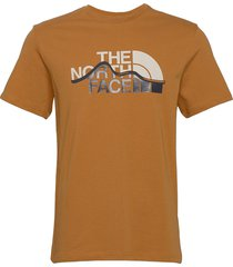 m s/s mount line tee t-shirts short-sleeved brun the north face