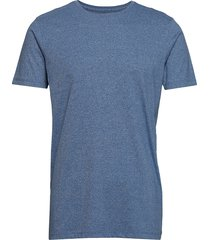 mouliné o-neck tee s/s t-shirts short-sleeved blå lindbergh