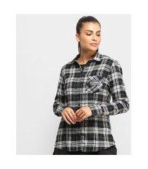 camisa xadrez kvra native feminina