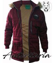 chaqueta invierno estilo parka autoritaria para hombre-bordò