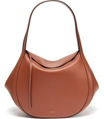 'lin' double strap leather tote bag