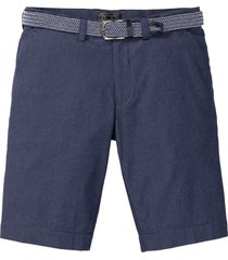 bermuda chino in seersucker con cintura (set 2 pezzi) regular fit (blu) - bpc selection