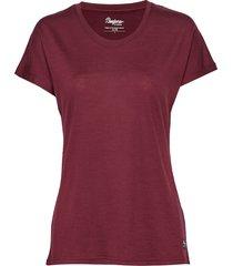 oslo wool w tee t-shirts & tops short-sleeved röd bergans