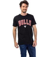 camiseta feminina nba bulls preto - preto - masculino - dafiti