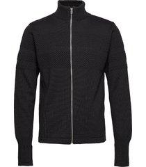100% wool klemens zip stickad tröja cardigan svart mads nørgaard