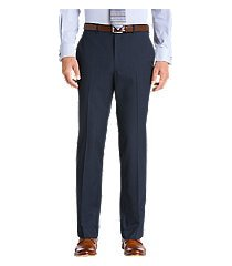 traveler collection tailored fit flat front washable wool dress pants by jos. a. bank