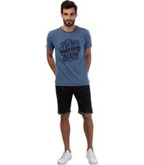 camiseta mascuina bã¡sica estampa play azul - azul - masculino - dafiti